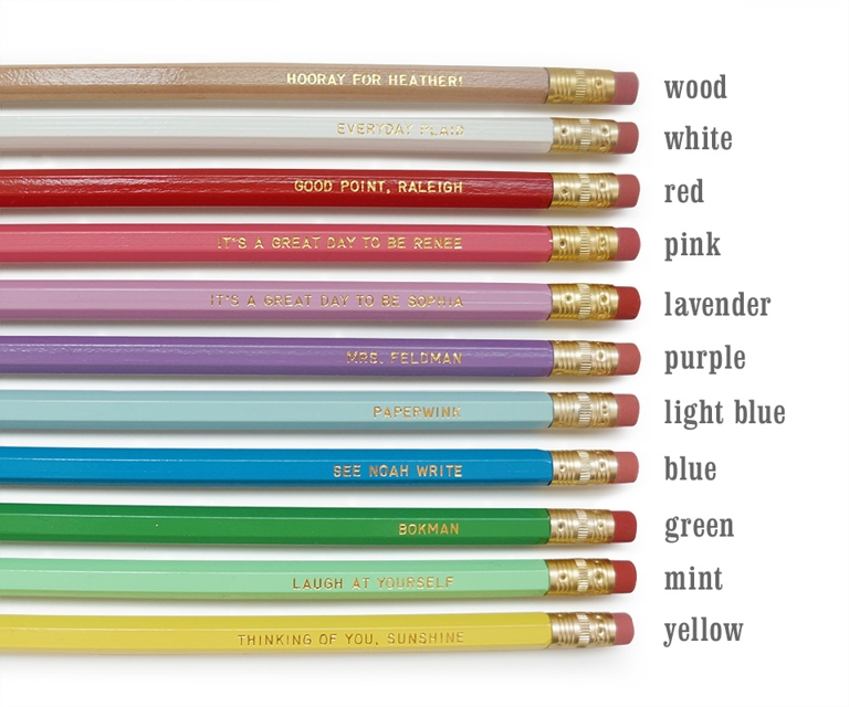 Teachers Pencils from Paperwink