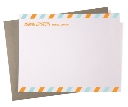 Airmail Personalized Notecards from Paperwink