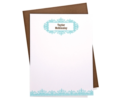 Antique Personalized Notecards from Paperwink