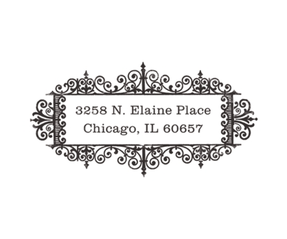 Antique Rubber Address Stamp from Paperwink