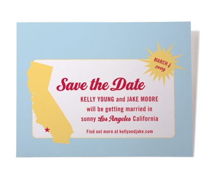 Retro Save the Date from Paperwink