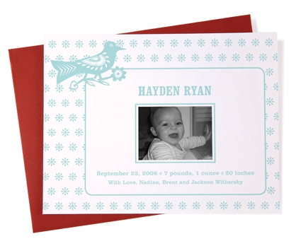 Baby Bird Photo Baby Announcements from Paperwink