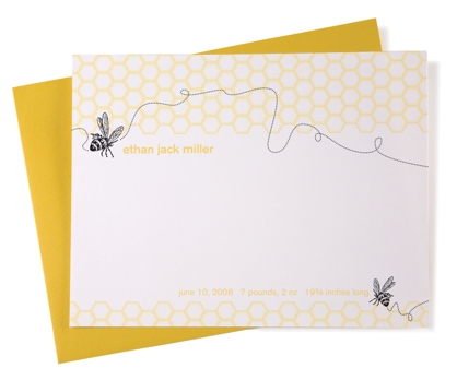 Baby Bee Baby Announcements from Paperwink