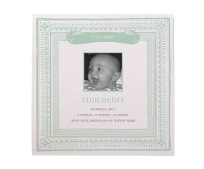 Baby Boy Frame Baby Announcements from Paperwink