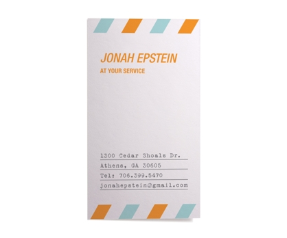 Airmail Calling Cards from Paperwink