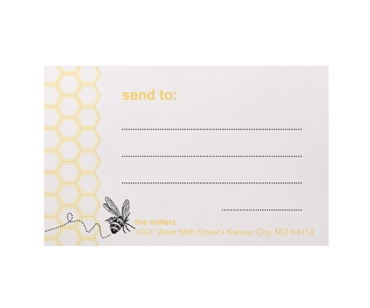 Bee Mailing Labels from Paperwink