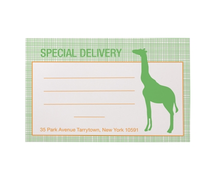 Giraffe Mailing Labels Set of 25 from Paperwink