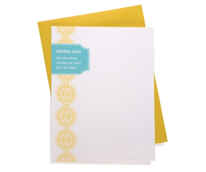 Sunburst Personalized Notecards from Paperwink