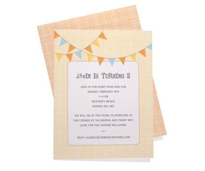 Bunting Party Invitation from Paperwink