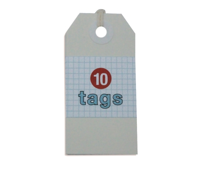 White Tags 10 Pack from Paperwink