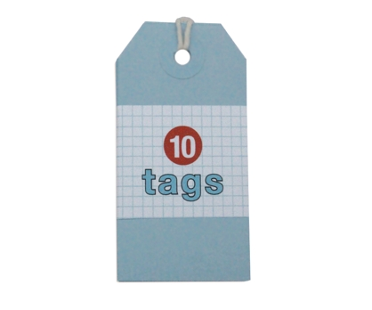 Blue Tags 10 Pack from Paperwink