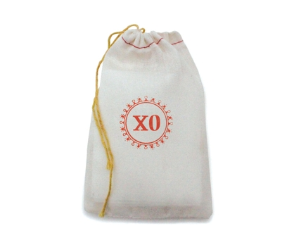 XO Stamped Muslin Bag from Paperwink