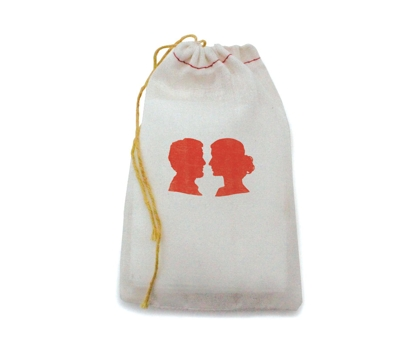 Silhouette Stamped Muslin Bag from Paperwink