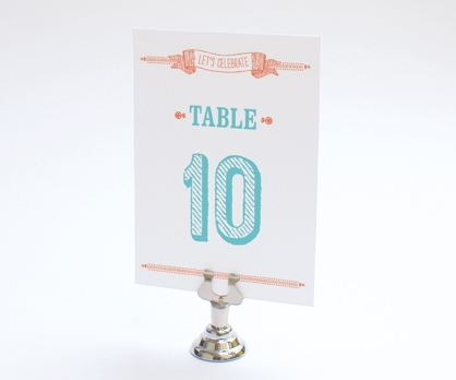 Woodcut DIY Printable Table Number from Paperwink