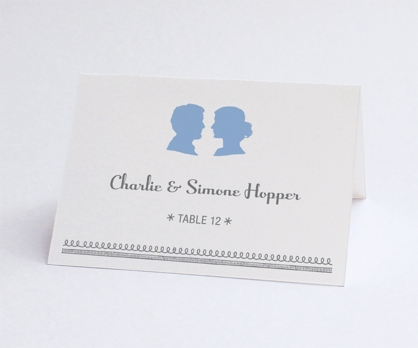 Silhouette  DIY Printable Escort Card / Place Card from Paperwink