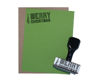 Merry Christmas Tree Stationery Stamp Set from Paperwink