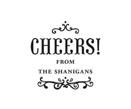 Cheers! Personal Rubber Stamp from Paperwink