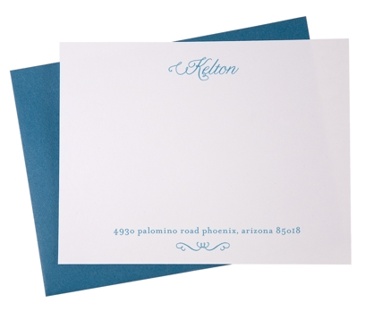 Swoop Personalized Notecards from Paperwink