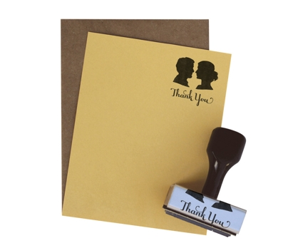 Silhouette Thanks Stationery Stamp Set from Paperwink