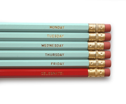 Days of the Week Pencils 6 No. 2 Pencils from Paperwink