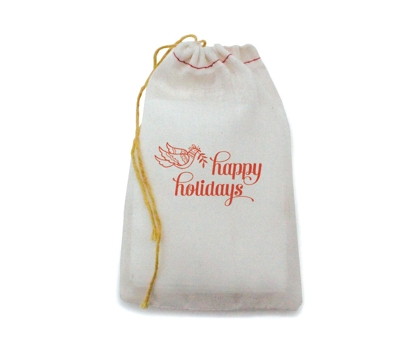 Happy Bird Bag Stamped Muslin Bag from Paperwink
