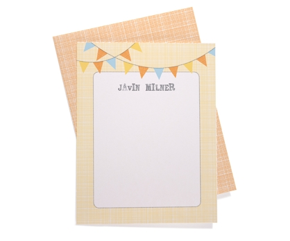 Bunting Personalized Notecards from Paperwink