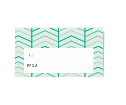 Herringbone Gift Labels 10 Pack from Paperwink