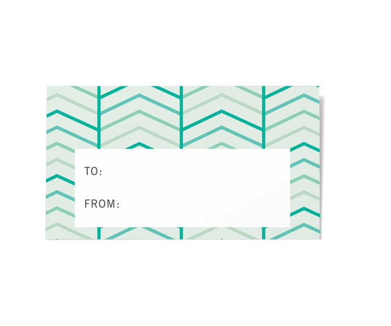 Herringbone Gift Labels from Paperwink