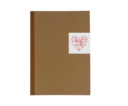 Geo Heart Lined Notebook from Paperwink